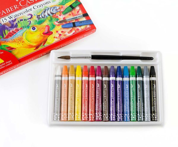 15 ct Watercolor Crayons with free brush
