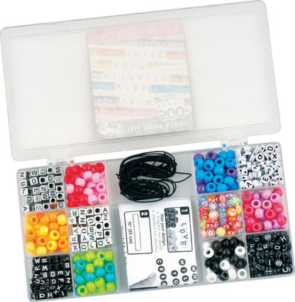 Tell Your Story Rainbow Alphabet Bead Case - Small