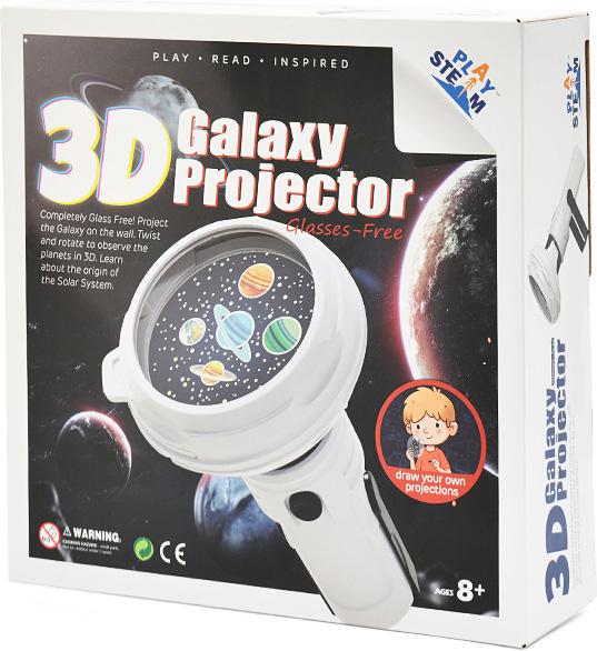 PlaySTEAM 3D Galaxy Projector Solar System Flashlight