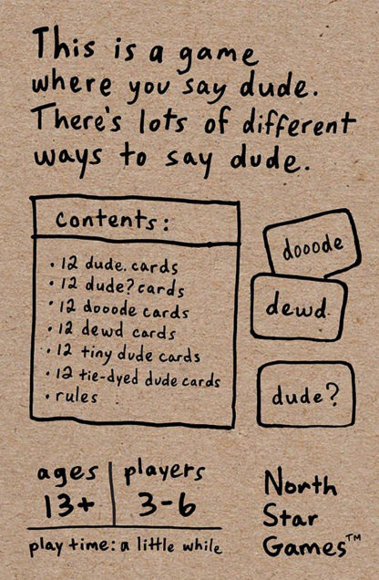 Dude Card Game