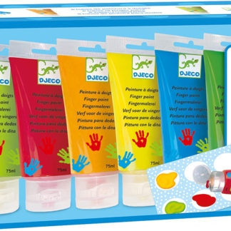 6 Tubes of Finger Paint - Classic