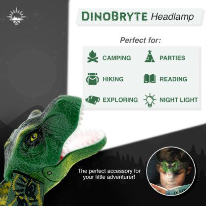 DinoBryte Dinosaur Headlamp
