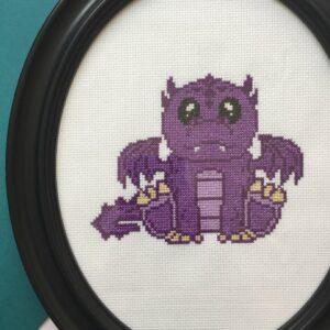 Purple Dragon Cross Stitch Kit