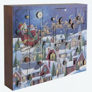 Santa's Sleigh Musical Wooden Advent Calendar