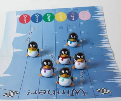Racing Penguins on track