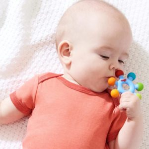 Clutching Color Wheel Silicone Teether