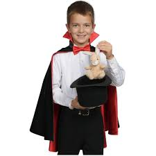 Classic Magician Cape (black/red)