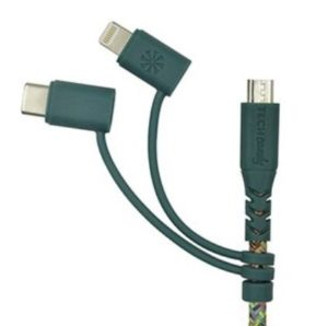 Triple Header Woven USB Cable