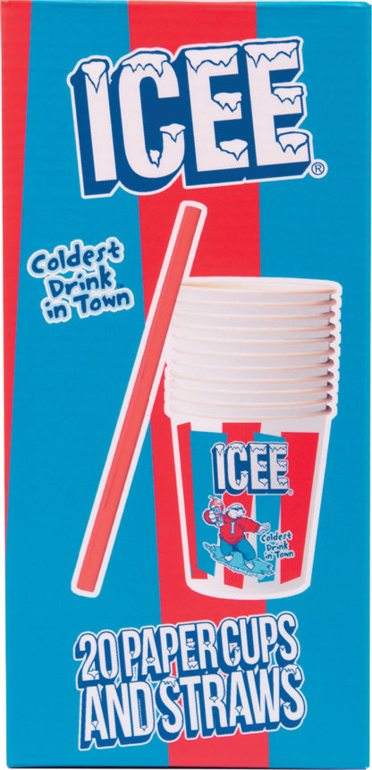 Icee Paper Straws & Cups