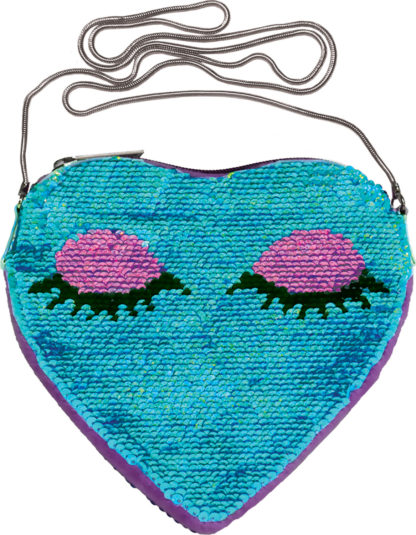 Heart Eyes Sequins Crossbody
