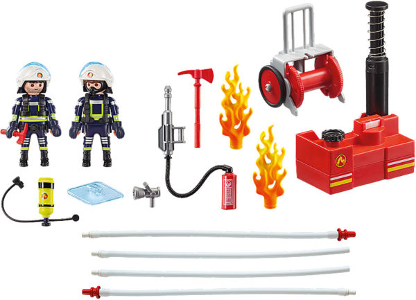 Firefighters with Water Pump