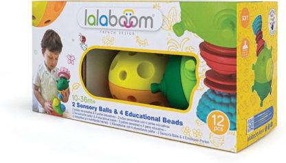 Lalaboom Sensory Balls & Beads - 12 pc