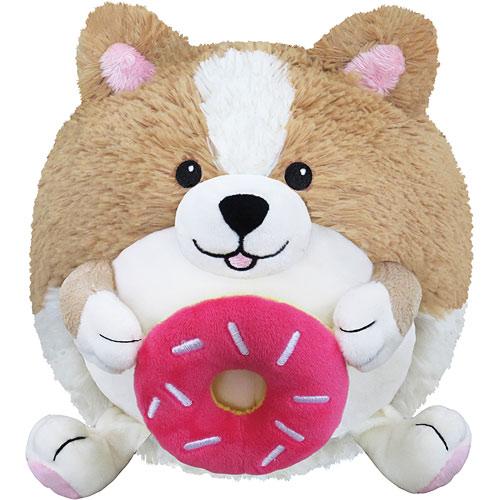 "Squishable Minis! 7"" Corgi Holding a Donut"