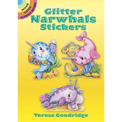 Glitter Narwhals Stickers