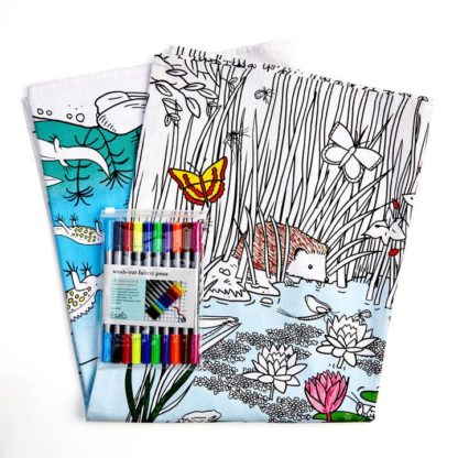Pond Life Coloring Tablecloth