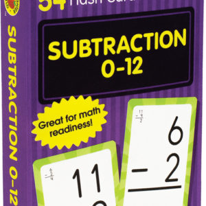 Subtraction 0 To 12 Flash Cards, Grades 1 - 3