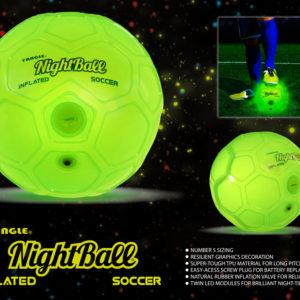 NightBall Green Inflatable Soccer Ball