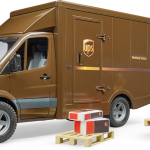 Bruder MB Sprinter UPS Truck with Driver and Accessories