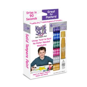 Kwik Stix Metalix Tempera Paint, 6 pack