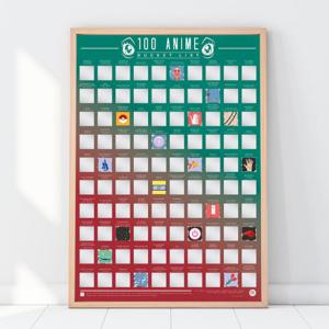 100 Scratch Off Bucket List: Anime Poster