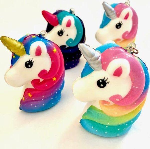 Unicorn Head Squishy Charm-12