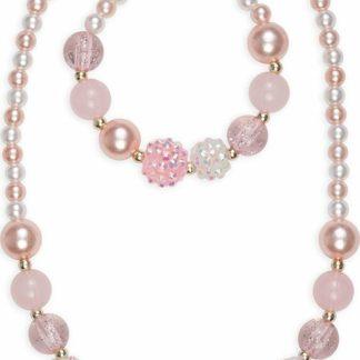 Pinky Pearl Necklace Bracelet Set Great Pretenders USA